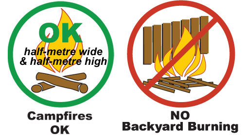 Youbou Volunteer Fire and Rescue, Youbou Fire Department, Youbou Volunteer Fire Department, backyard burning ban